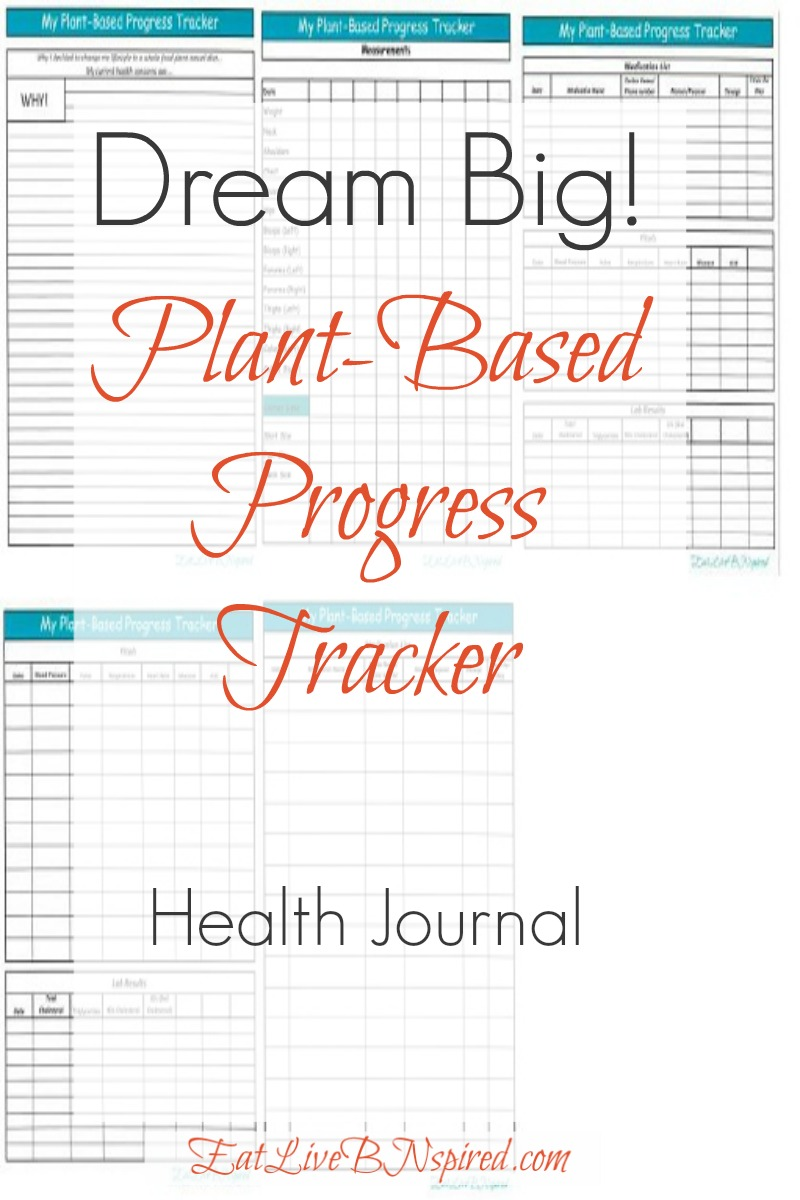 Dream Big Plant Based Progress Tracker