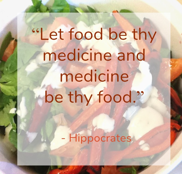"Instead of all the things Narrow down the focus ""Let food be thy medicine and medicine be thy food"" - hippocrates"