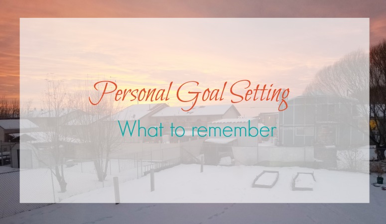 Why Personal Goals are important – What to remember